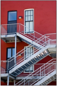 Red wall & Stairway1
