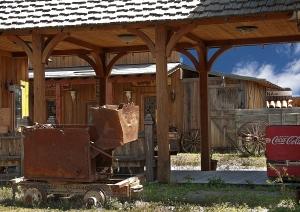 an old mining cart