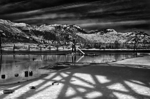 Infrared camera with edited contrast.