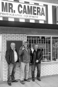 Dave, Pat and Sam at Enman's Camera shop