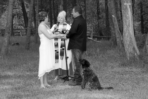 wedding vows with dog