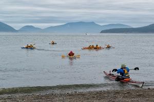 Kayaks away