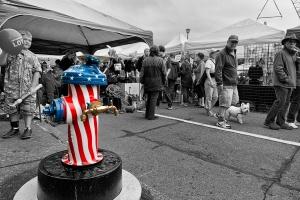 Patriotic Hydrant