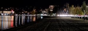 Walking the beach at night