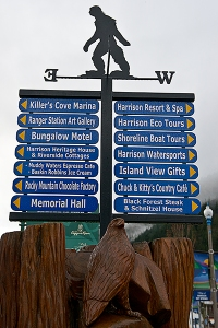 Town Directions sign