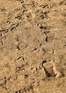 Bootprints in the sand